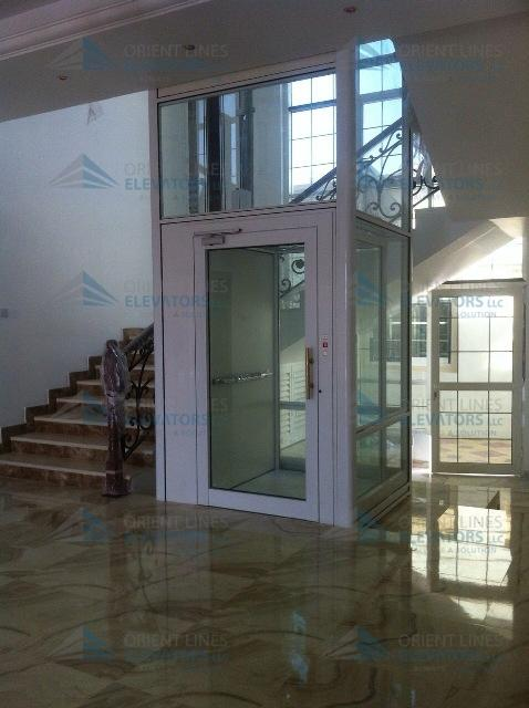 Panoramic home lifts without pit indoor outdoor elevators for Indoor elevator
