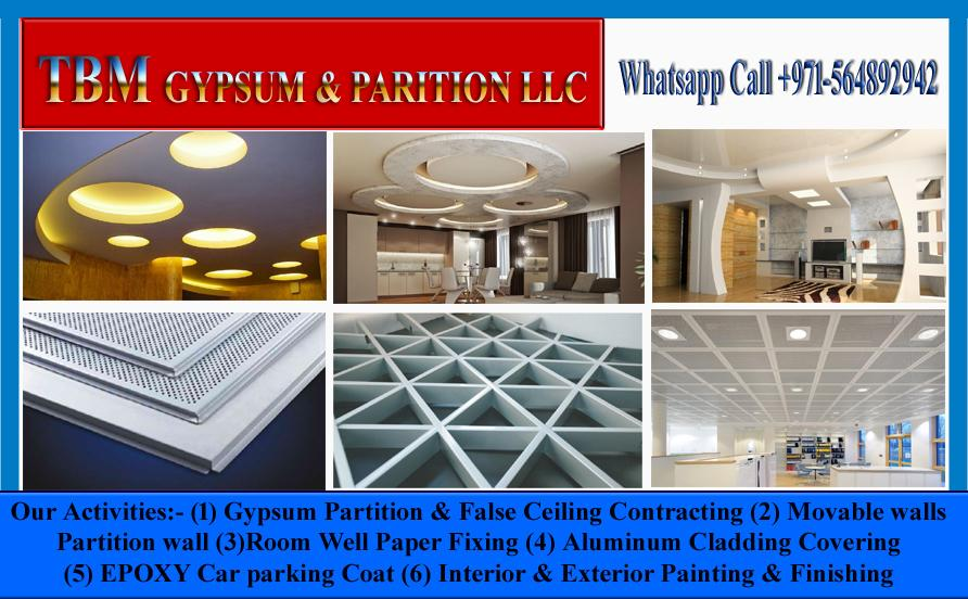 Gypsum Partition and Wall Painting Company in Dubai Ajman